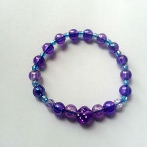 Brățară norocoasă violet cu albastru și zar norocos